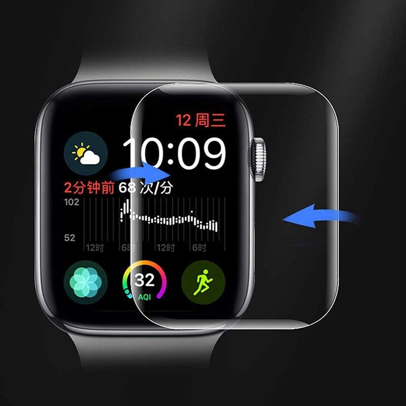 Cristal templado curvado blando 9D para Apple Watch, Protector de pantalla de...