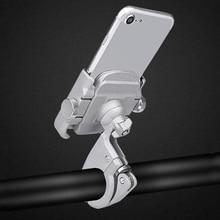 Nieuwe Aluminium Legering Fiets Telefoon houder Mobiele Telefoon Houder 4-7 Inch Mobiele Telefoons Motorfiets Titanium/Zwart Voor fiets Stuur