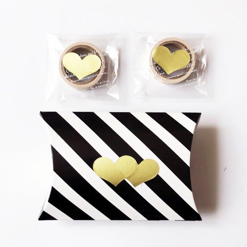 120 unids/lote precioso Corazón Dorado hecho a mano adhesivo Kraft sello pegatina para hornear etiquetas de regalo pegatinas divertido regalo DIY