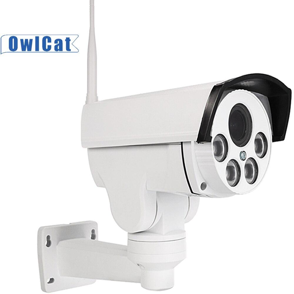 Gato-buho SONY HD 2MP 5MP de la bala al aire libre de la cámara PTZ IP Wifi 5X 10X Zoom óptico IR noche Onvif tarjeta SD Audio CCTV de la calle de la cámara