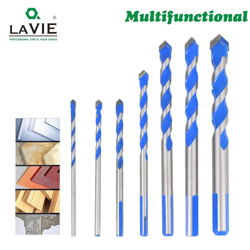 3、4、5、6、8、10、12mm多機能ガラスドリルビット、セラミックタイル、コンクリートレンガ、金属、ステンレス鋼、木材用の三角形ビット