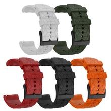 24mm  Silicone Watchband for Suunto 9 Baro Titanium Copper Bracelet / Suunto Spartan Baro replace strap band