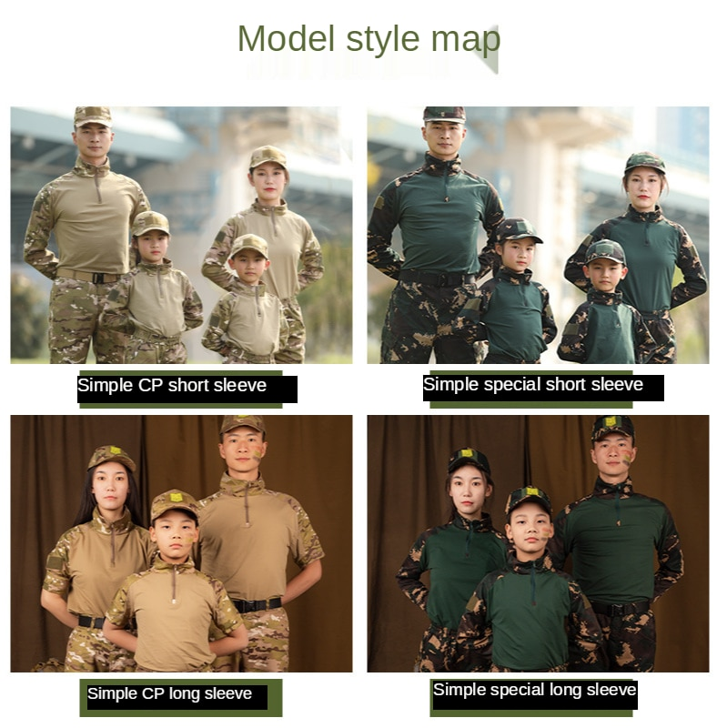Children Camouflage Suit Boys Outdoor Camouflage Training Military Commando Frog Suits Hunting Shirts + Pants For 10 12 14 16 Y enlarge
