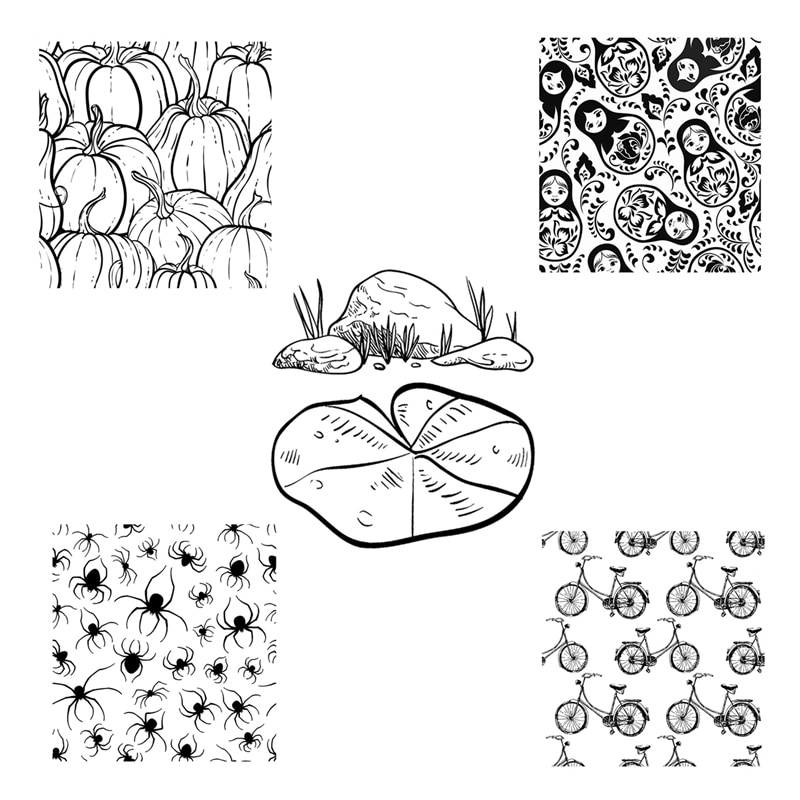 2021 New Arrival Clear Stamps For Scrapbooking Paper Making Halloween Spider Bike Background Embossing Folders Craft Card Set