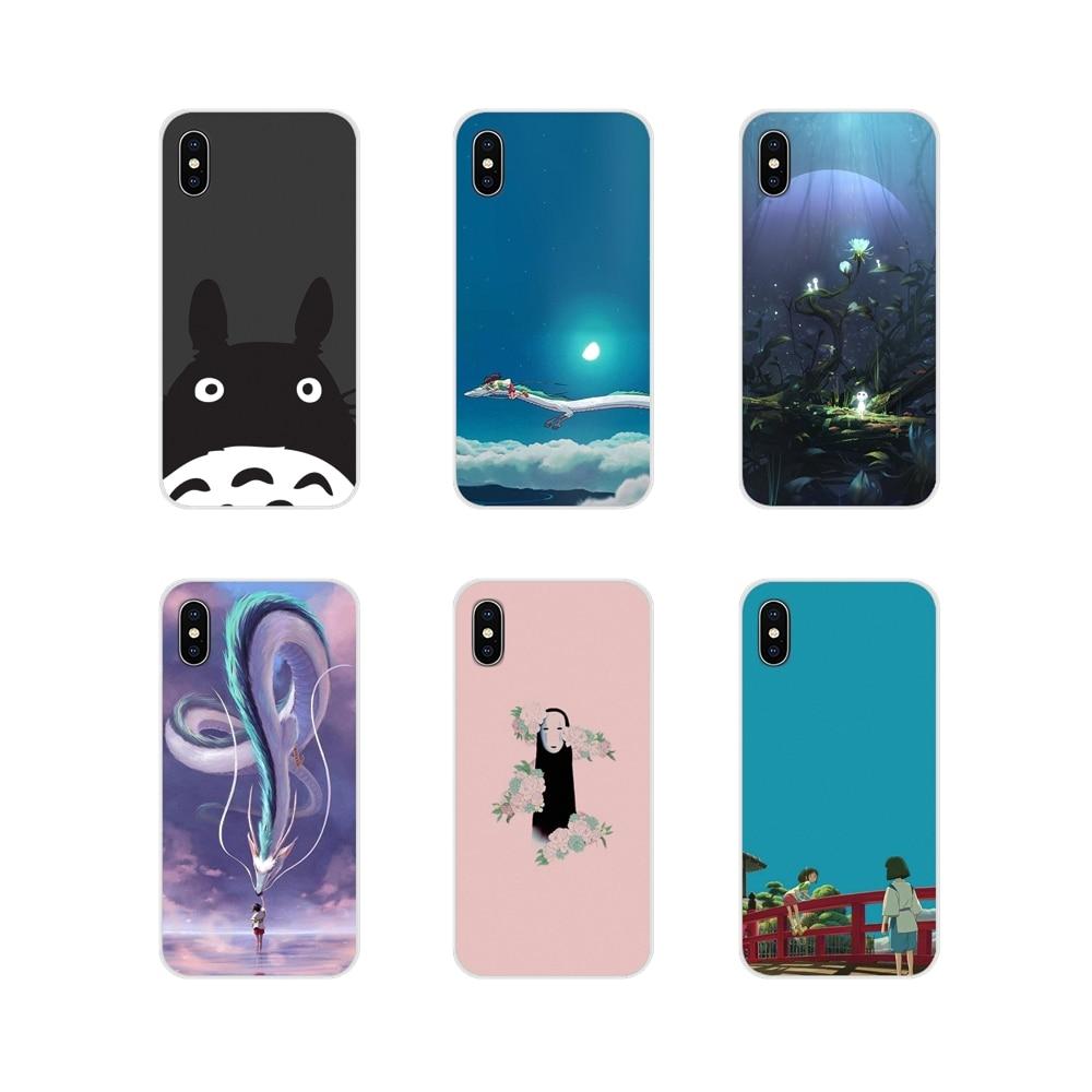 Para Huawei G7 G8 P8 P9 P10 P20 P30 Lite Mini Pro P Smart Plus 2017 de 2018 de 2019 cubierta de la caja del teléfono móvil de Totoro en espíritu Ghibli