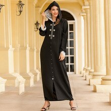 Wepbel femmes musulmanes Robe dentelle à capuche ongles strass marocain arabe Abaya Ins femme Djellaba Robe musulmane à manches longues Robe