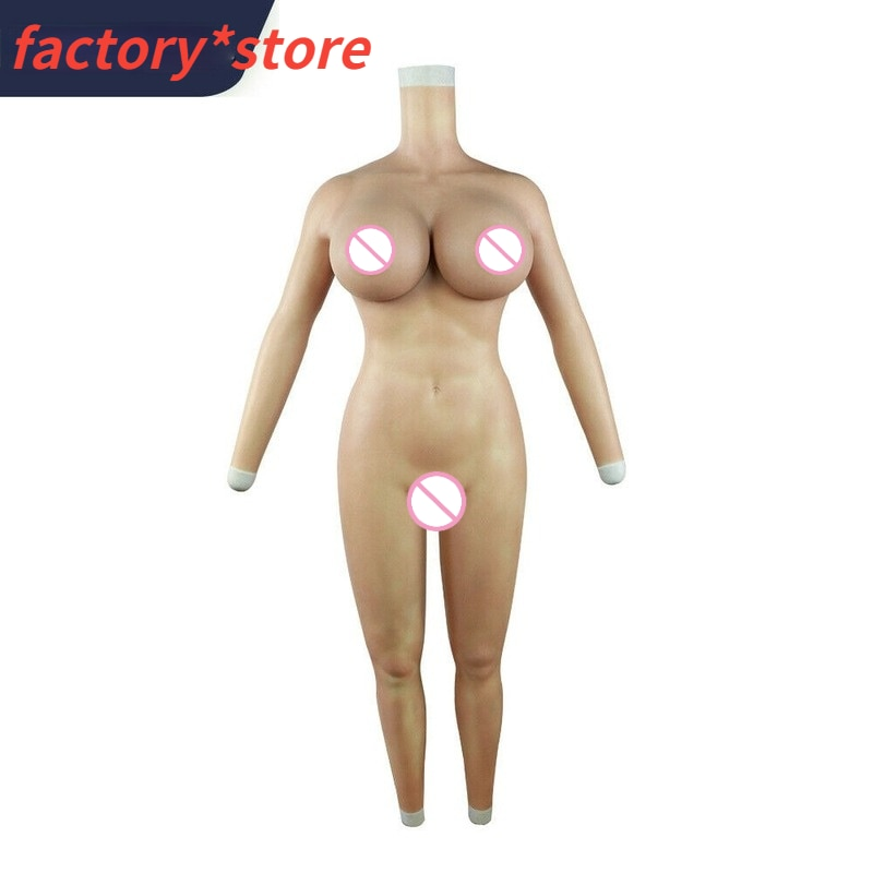 H-Cup Crossdresser Silicone Full Body Suit with Breasts Silicone Clothes Suitable for Transvestites for Drag Queens