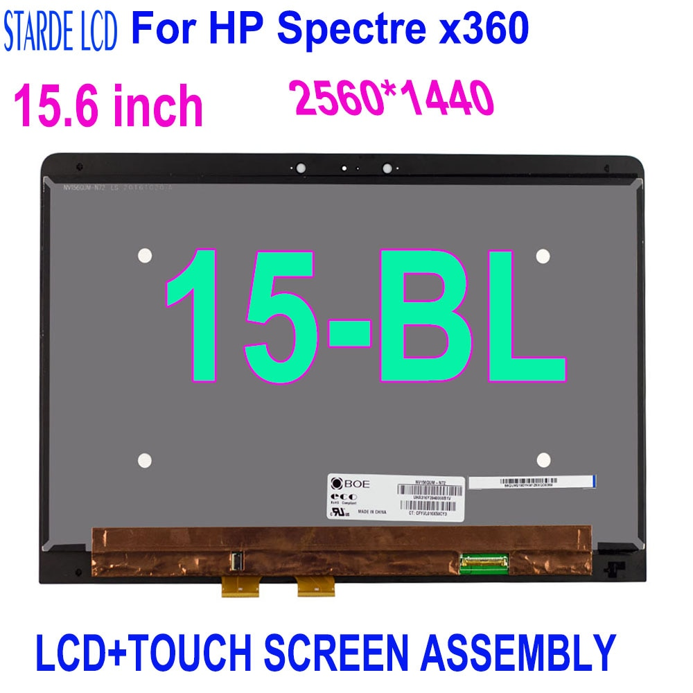 STARDE LCD For HP Spectre x360 15-BL112DX 15-BL Serise 4K LCD Display Touch Screen Digitizer Sense Assembly