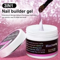 60ml 3 colors builder gel for nails fast drying strengthen nail extension gel long lasting remove the painlessly quickly extend