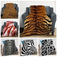 new realistic european and american animal imitation fur childrens cartoon animation tiger thickened flannel blanket