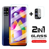 2 in 1 tempered glass for samsung galaxy m31s m31 prime m 31 s 31s 2020 m315f 6 4 sm m317fds 6 5 protective glass film