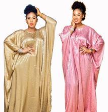 New style African Dashiki Fashion Silk jacquard fabric abaya Loose Long dress and belt  free size length 150cm