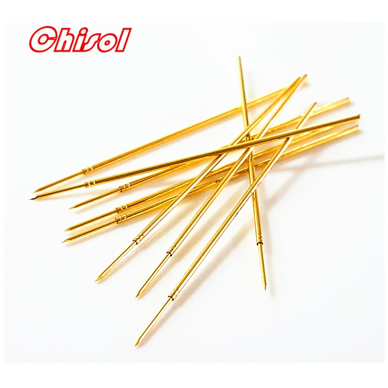 Original INGUN 100 unids/set 050mil aguja de prueba GKS050291050A2000 Sonda de resorte agujas de prueba