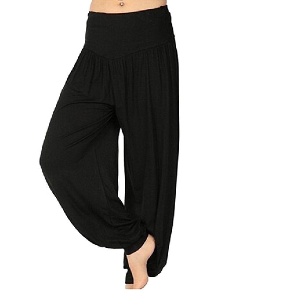 Women\'s Comfy Harem Yoga Loose Long Pants Belly Dance Boho Sports Wide Trousers
