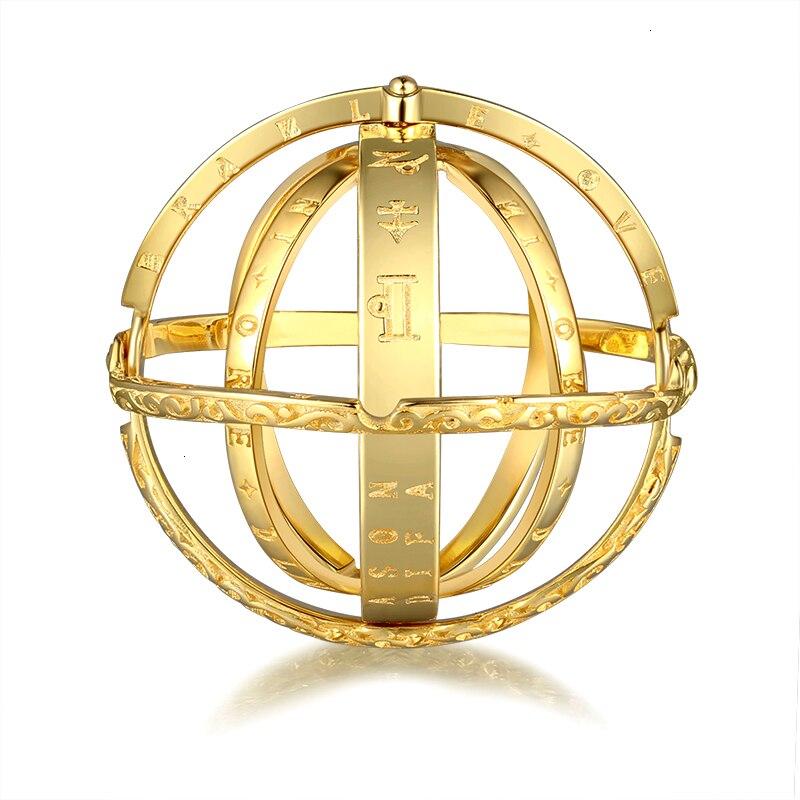 Anillo astronómico de plata Strollgirl 925, anillo esférico de amor, anillo de bola constelaciones, anillo de plata para pareja, joyería para amantes