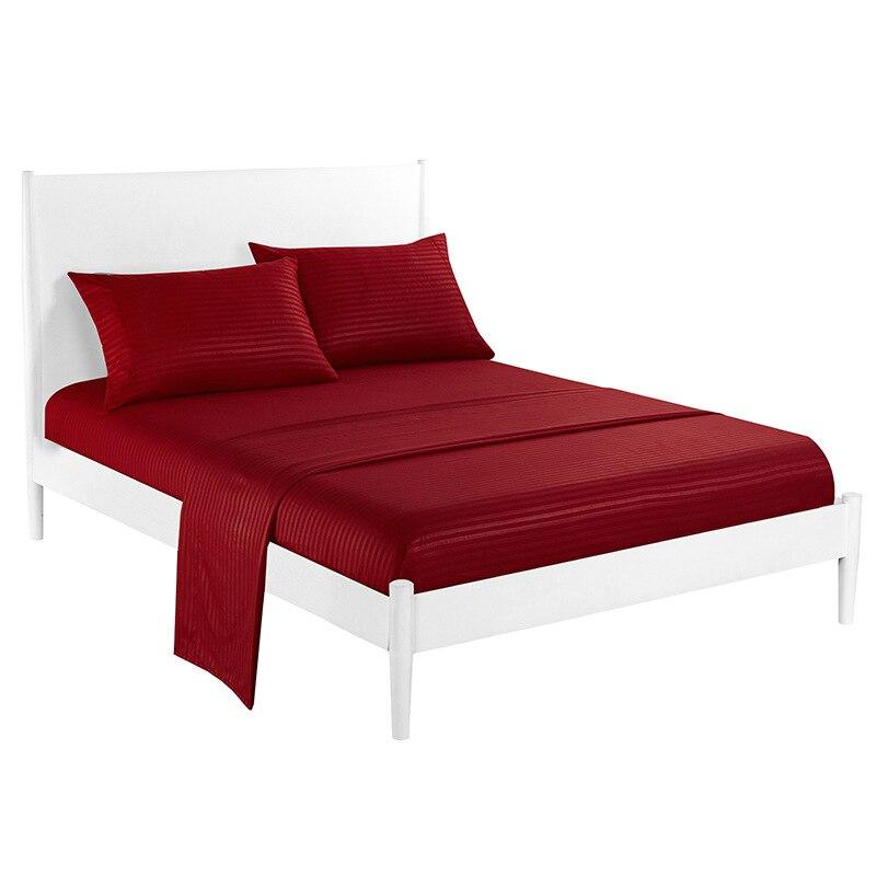 مجموعة غشايات السرير الساتان شريط المجهزة ورقة الراقية بلون غطاء مرتبة طقم ملاءة سرير الملك الحجم سرير ملكة ملاءات