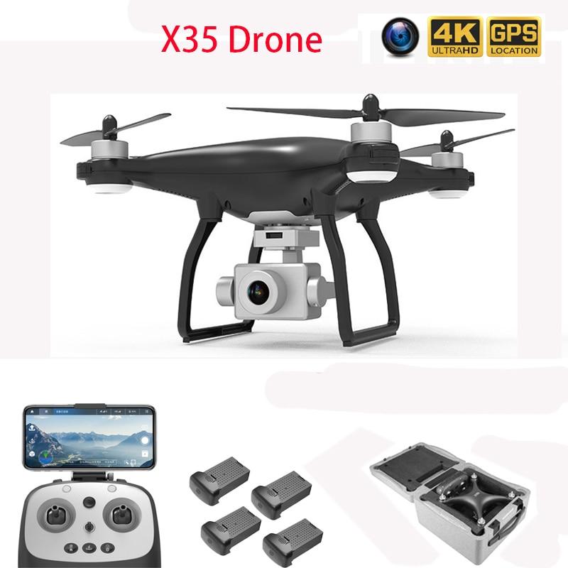 Drone GPS 4K HD اثنين محور المضادة للاهتزاز Gimbal كاميرا 5G WIFI فرش SD بطاقة المهنية 30 دقيقة رحلة VS X35 RC Quadcopter