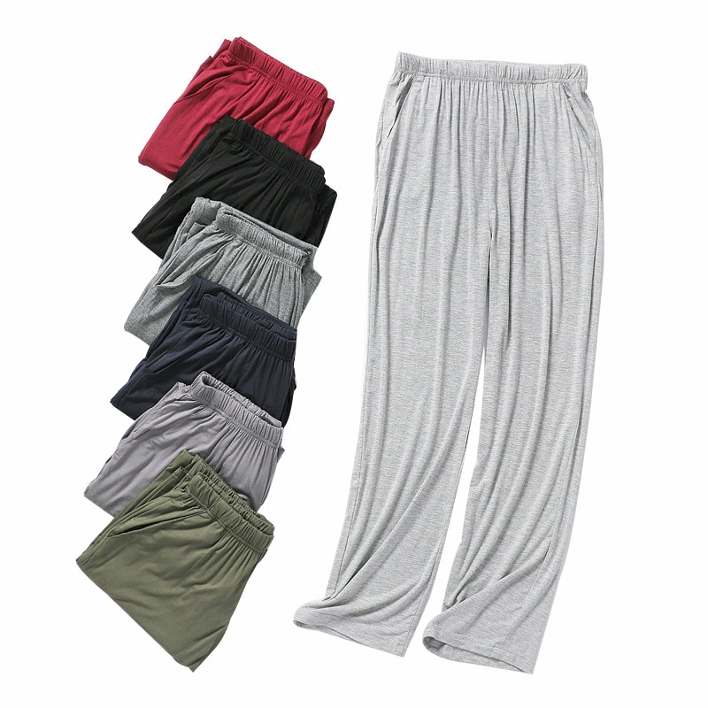 Hot Sale Autumn Men's Pajama Pants Modal Lounge Wear Home Pants for Men Plus Size Casual Home Pants