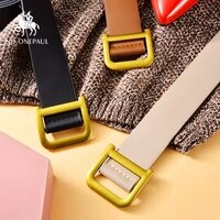 no onepaul square buckle women belt luxury brand belts for women simple vintage students waistband adjust fashion casual belt