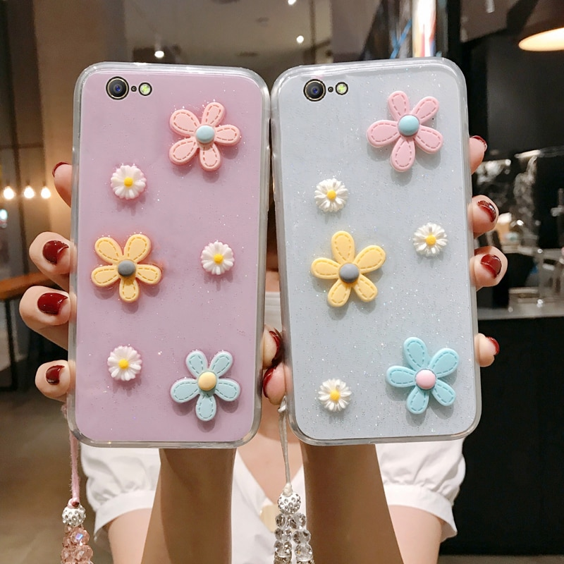 F3 lite 3d bloemen glitter caso de telefone para oppo a57 a39 transparente bling macio tpu capa traseira