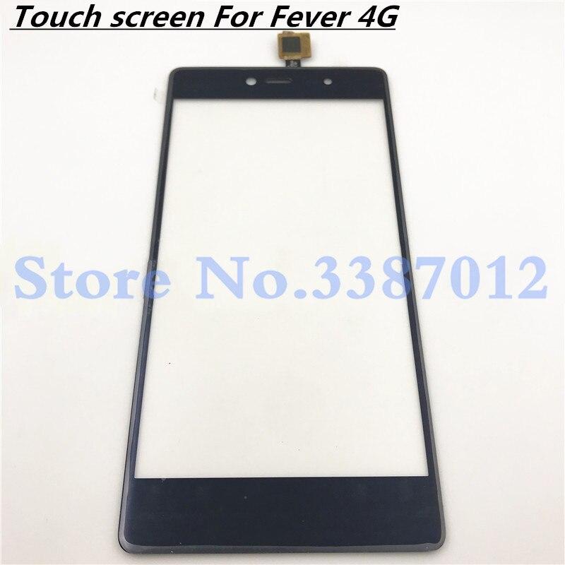 5,2 reemplazo de alta calidad para el Panel de lente de cristal exterior del Sensor del digitalizador de la pantalla táctil Wiko Fever 4G
