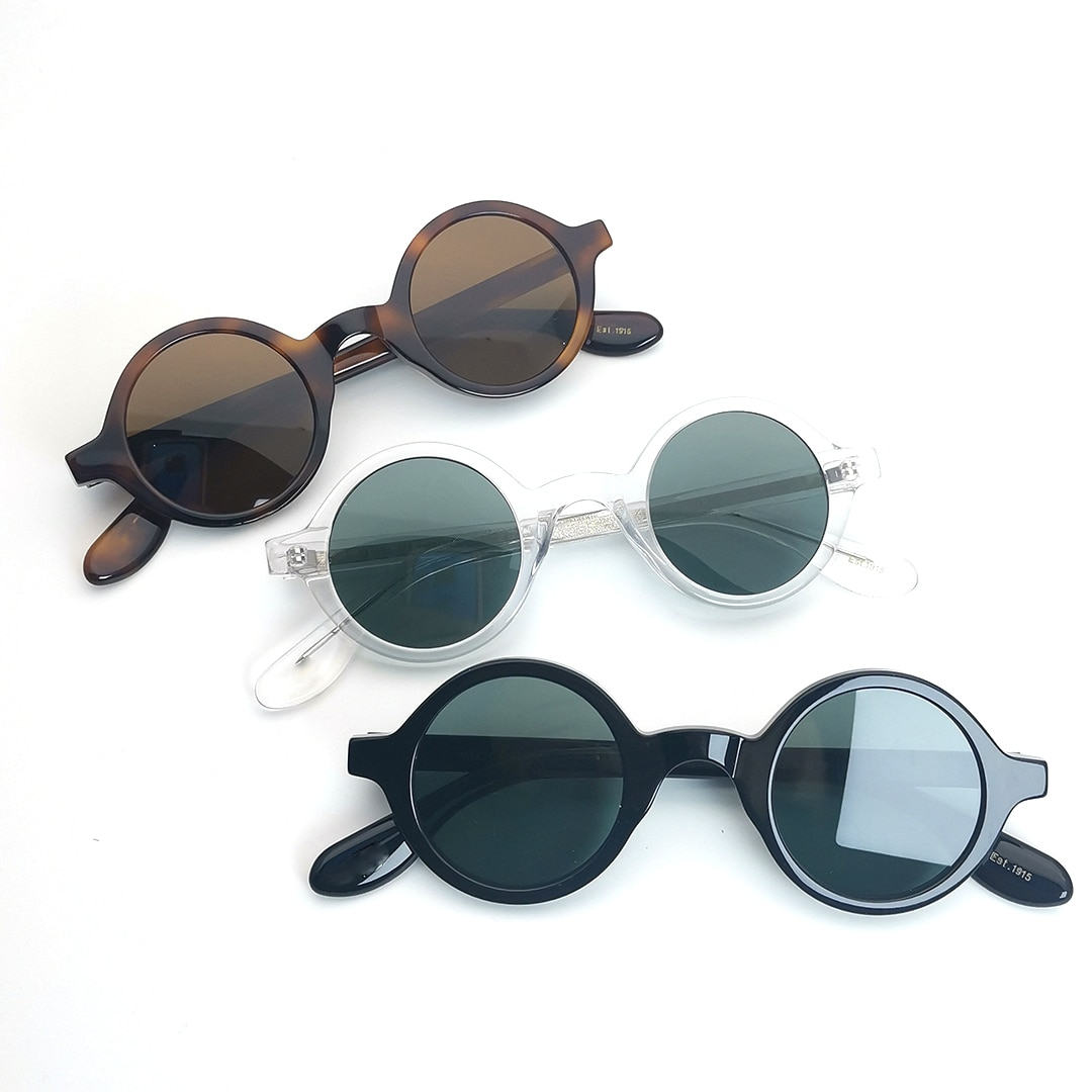 2021 Handmade Sun Glasses Frames Fashion Round Acetate Women Men Designer Myopia Prescription  Sunglasses