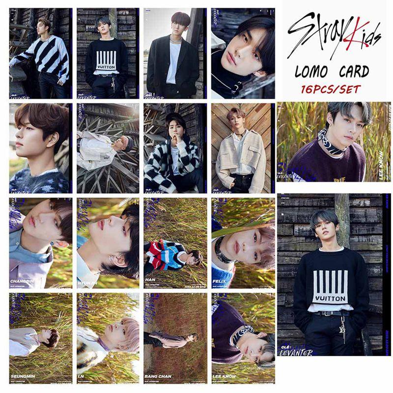 16 unids/set Kpop niños perdidos Photocard nuevo álbum LEVANTER cartel Lomo tarjeta Kpop niños perdidos foto tarjeta nueva Srrivals