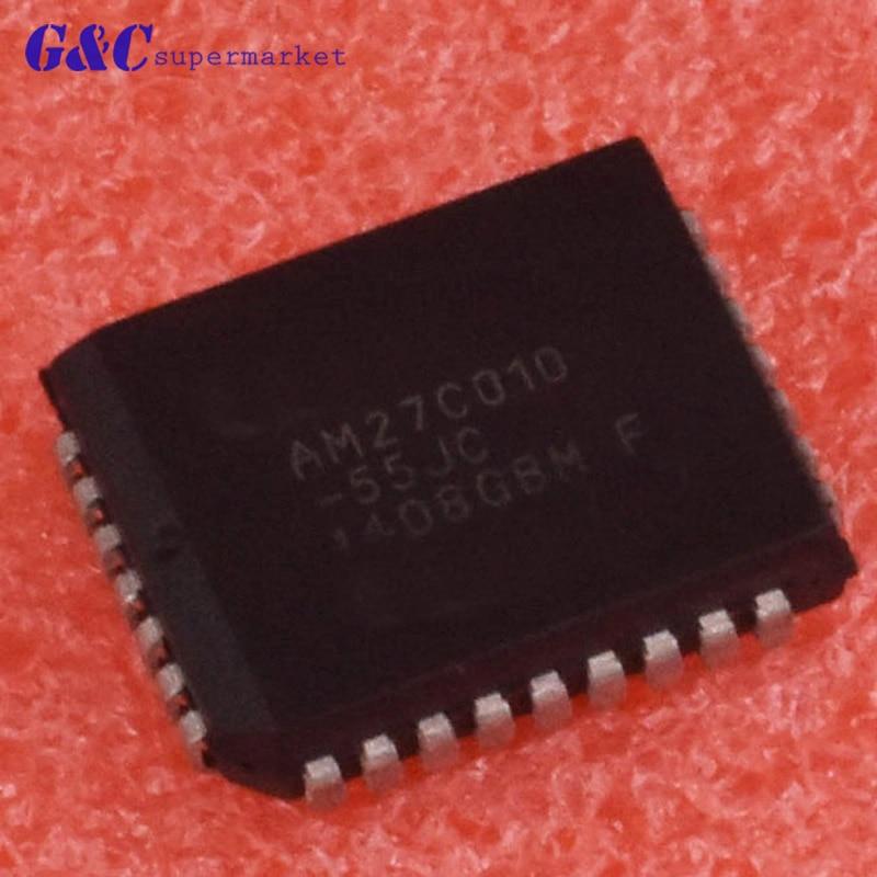 1/5 pces AM27C010-55JC plcc 1 megabit (128 k x 8 bits) cmos eprom 32 pinos diy eletrônica