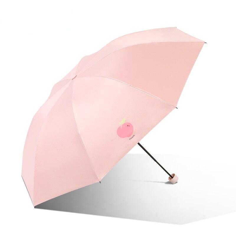 Paraguas automático para mujer, Sombrilla Plegable UV de lujo para viajes al aire libre, Mini Sombrilla de bolsillo de diseñador Plegable, equipo de lluvia BE50UB