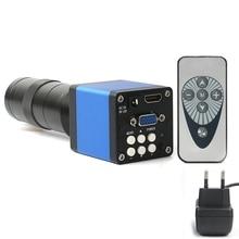Hot!! 14Mp 1080P Digital Video Hdmi Micro-scope Camera +130X C Mount Lens for Pcb Soldering Repair Dual Display Output(Eu Plug)