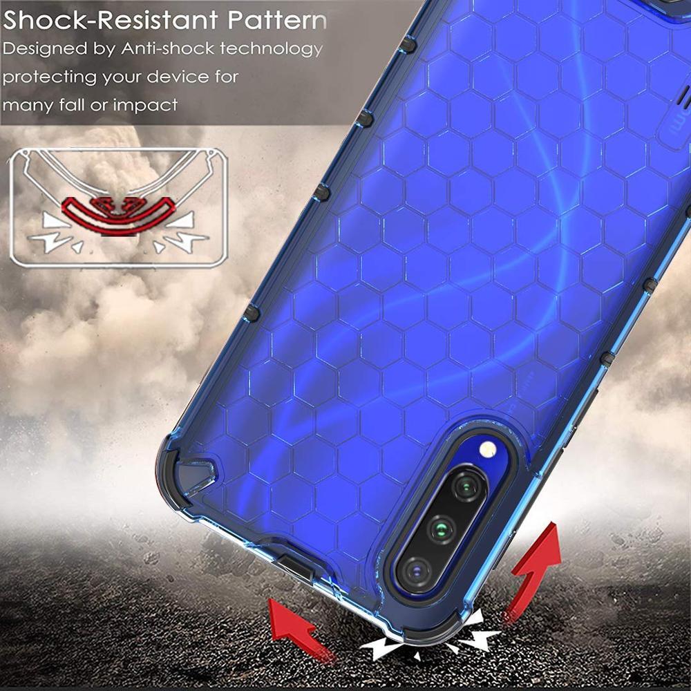 Купить с кэшбэком Case for Xiaomi Redmi Note 8 Pro 8T 7 9s 7A 8A POCO X3 Cover Honeycomb Silicone Case For Xiaomi Mi A3 Lite 9T 10T Note 10 Pro