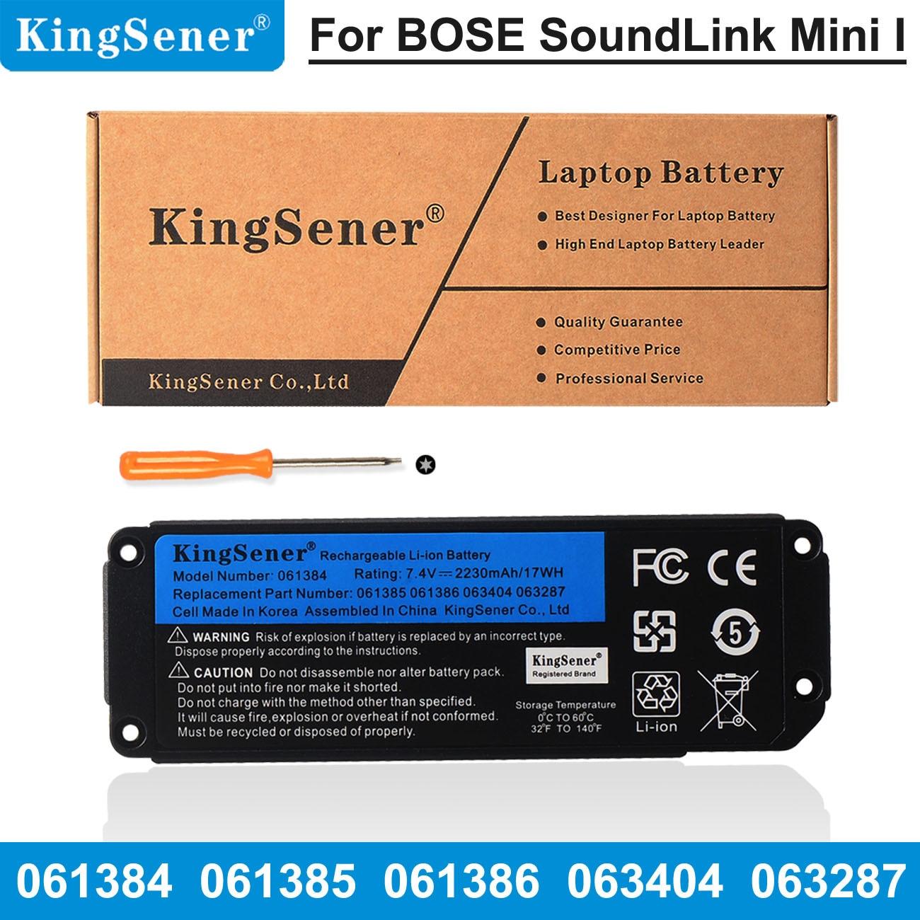 Аккумулятор Kingsener для Bluetooth-колонки BOSE SoundLink Mini I, 061384 в, 17 Вт/ч, 061385, 061386, 063404, 063287, 7,4