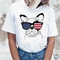 dachshund pug teckel funny t shirt women harajuku cute french bulldog frances german shepherd t shirt pit bull tshirt top female