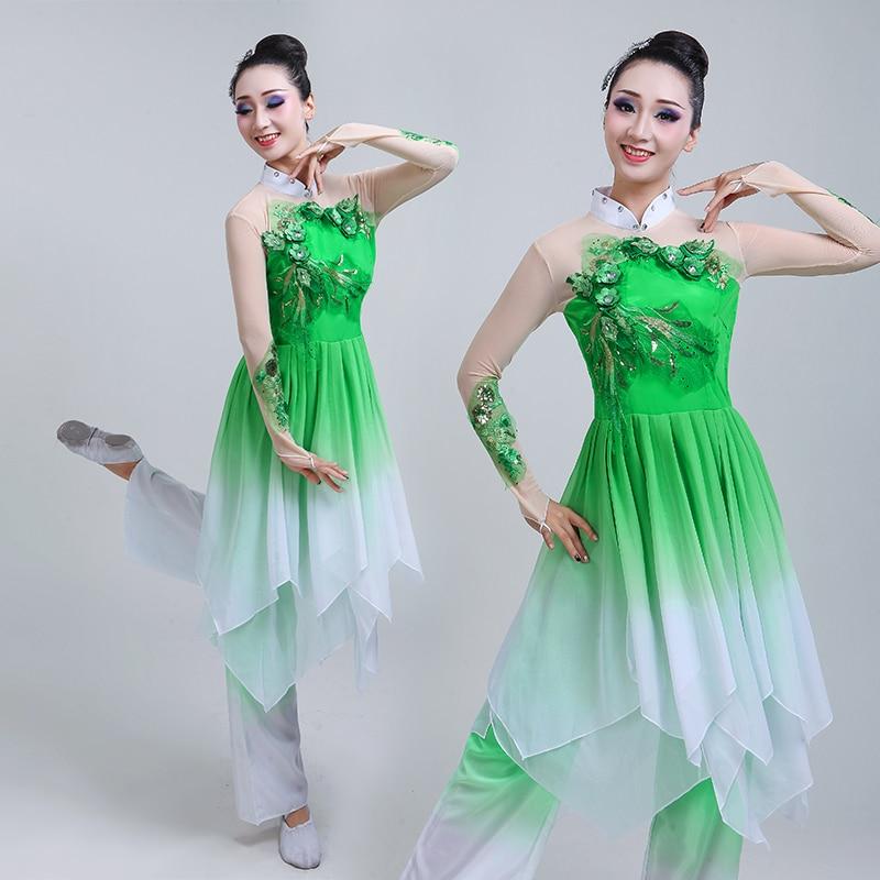 Chinese style Hanfu classical dance costume adult female national dance Yangko performance costume fan dance set chinese style hanfu yangko dance clothes squares fan dance national dance clothes stage dance costume