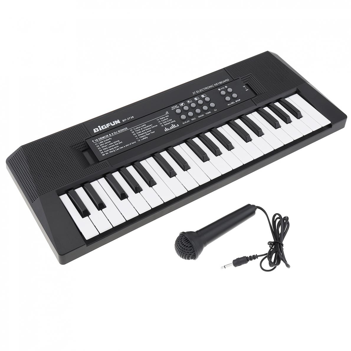 Electronic Organ 37 Keys Electronic Keyboard Piano Digital Music Key Board with Microphone Children Gift Musical Enlightenment enlarge