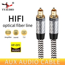 YYAUDIO Toslink Digital Cable Optical Fiber Audio Cable Adapter 1m 2m 3m For TV Blueray PS3 XBOX DVD