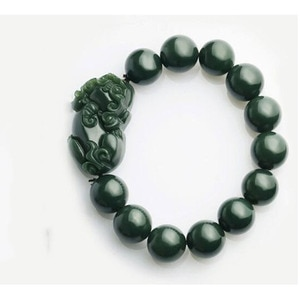 Jade Bracelet Natural Hetian Qingyu Beads + Mink Bracelet Jewelry Men and Women's Fine Jewelry Qingyu Beads Mink Bracele