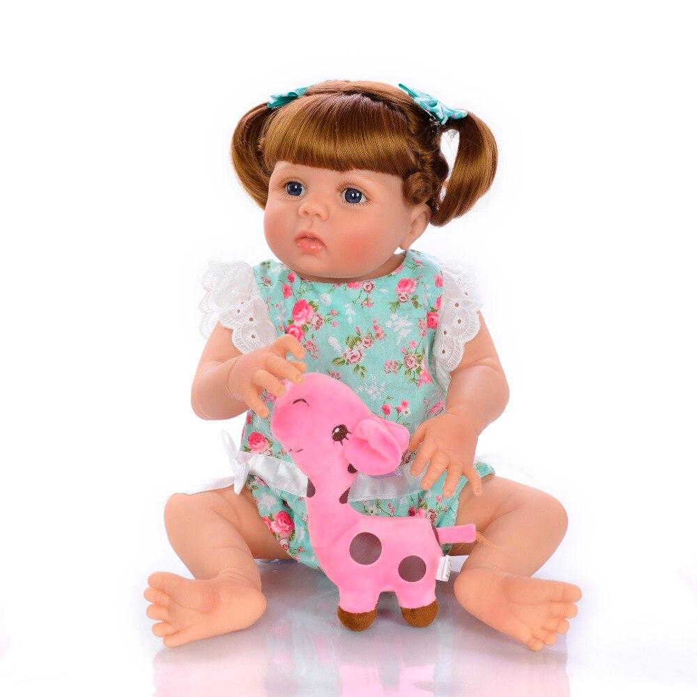 22 reborn reborn reborn bebê menina de corpo inteiro silicone reborn bebê bonecas crianças boneca reborn bebe criança diy brinquedos tan pele