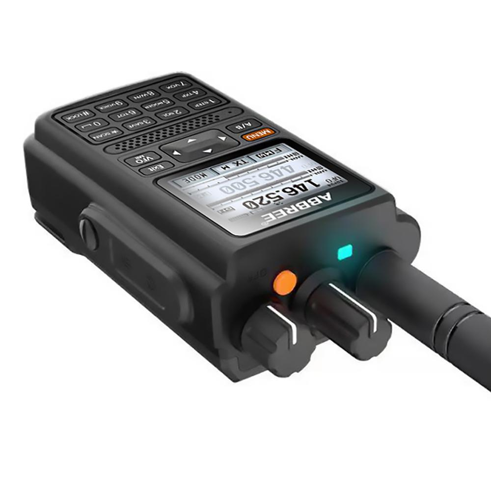 ABBREE AR-F8 GPS high power All Bands(136-520MHz) Frequency/CTCSS Detection 1.77 LCD 999CH Walkie Talkie 10km long range enlarge