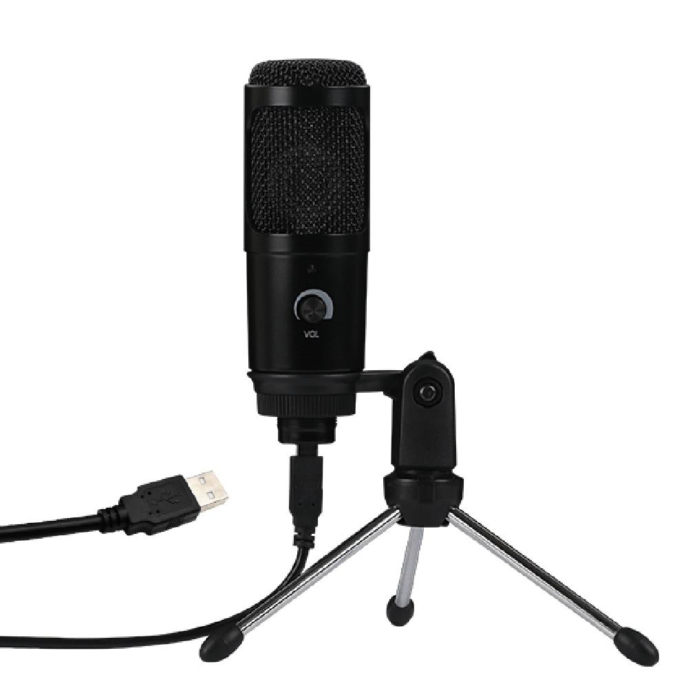 Kondensator Mikrofon USB Mikrofon für Karaoke Aufnahme YouTube-K669 Gaming Aufnahme mit Clip Stativ für Laptop Desktop PC