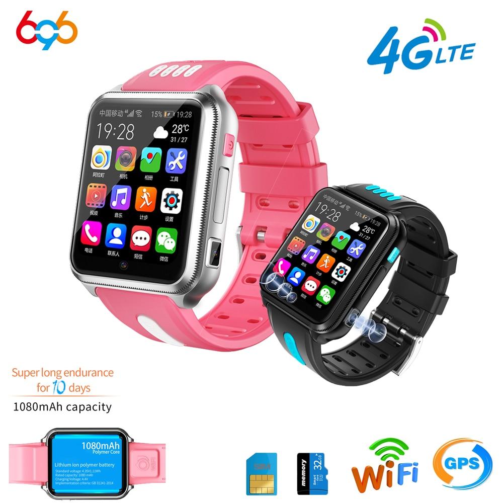 696 4G LTE موقع المقتفي للأطفال/الأطفال/طالب ساعة ذكية بلوتوث ساعة ذكية واي فاي سيم كاميرا لتحديد المواقع H1 ساعة الهاتف