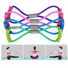 Gimnasio 8 palabras banda elástica desarrollador de pectorales goma cuerda de expansión deporte y entrenamiento bandas de resistencia equipo de entrenamiento de Yoga