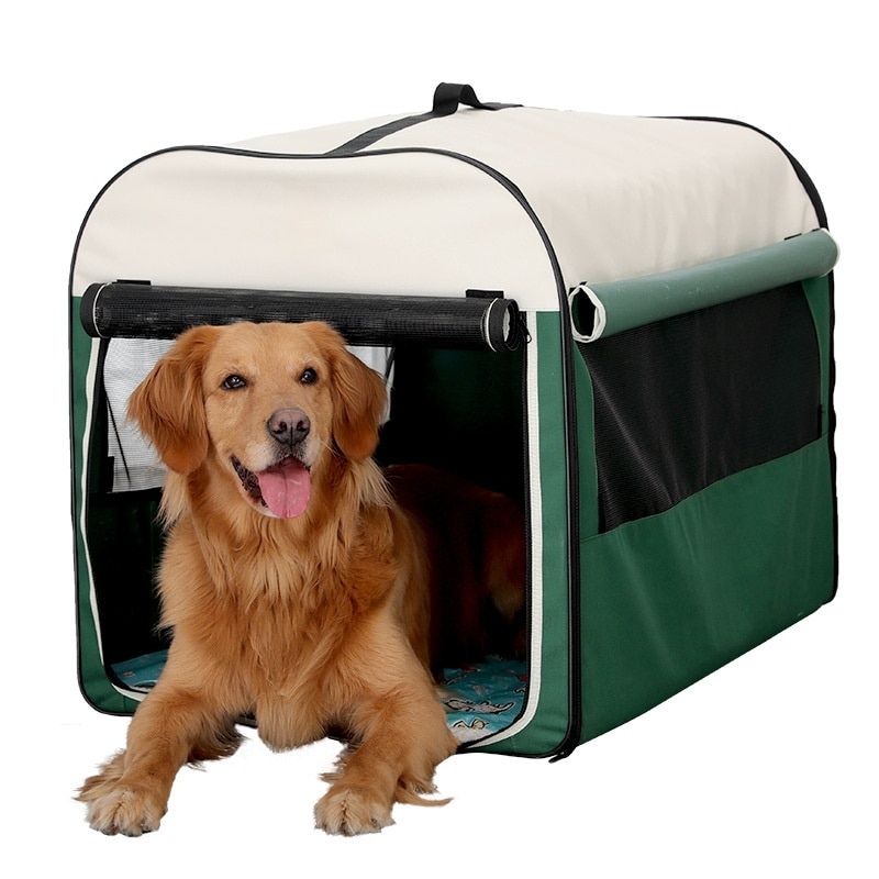 Dog Kennel Folding Portable With Ventilation, Mosquito, Sunscreen, Indoor And Outdoor Tent Pet