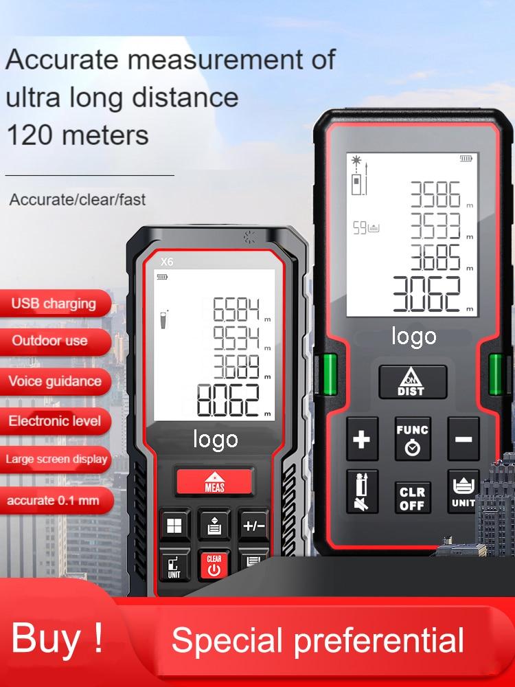Telémetro láser líneas verdes medidor de distancia metro láser 120m Medidor láser...