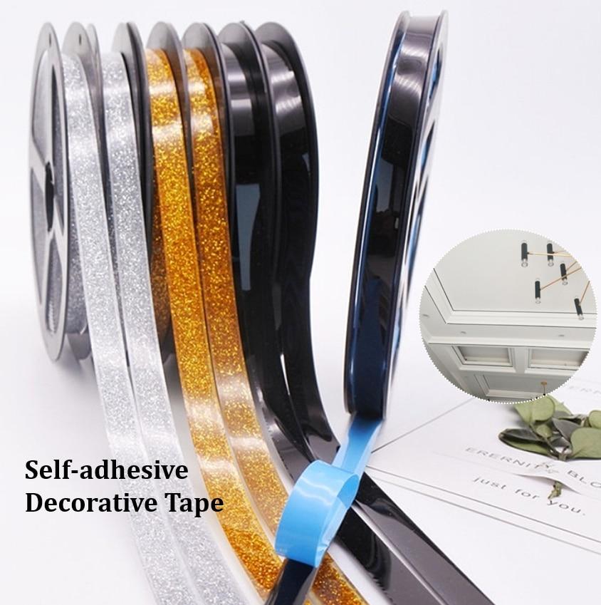 6m DIY auto-adhesivo de cerámica azulejo costura línea Gap Tape a prueba de agua cinta decorativa esquina bordes laterales tira pegatinas
