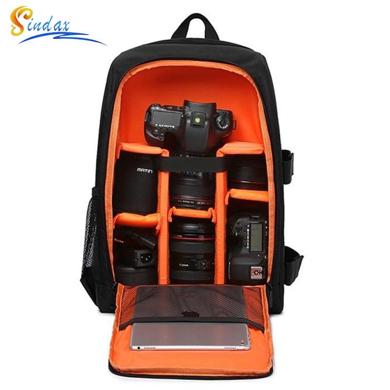 Waterproof DSLR Backpack Video Digital DSLR Camera Bag Multi-functional Outdoor Camera Photo Bag Case for Nikon Canon DSLR Lens