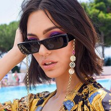 Square Women Sunglasses Luxury Brand Travel Small Rectangle Sun Glasses Men and Women Eyeglasses Vin