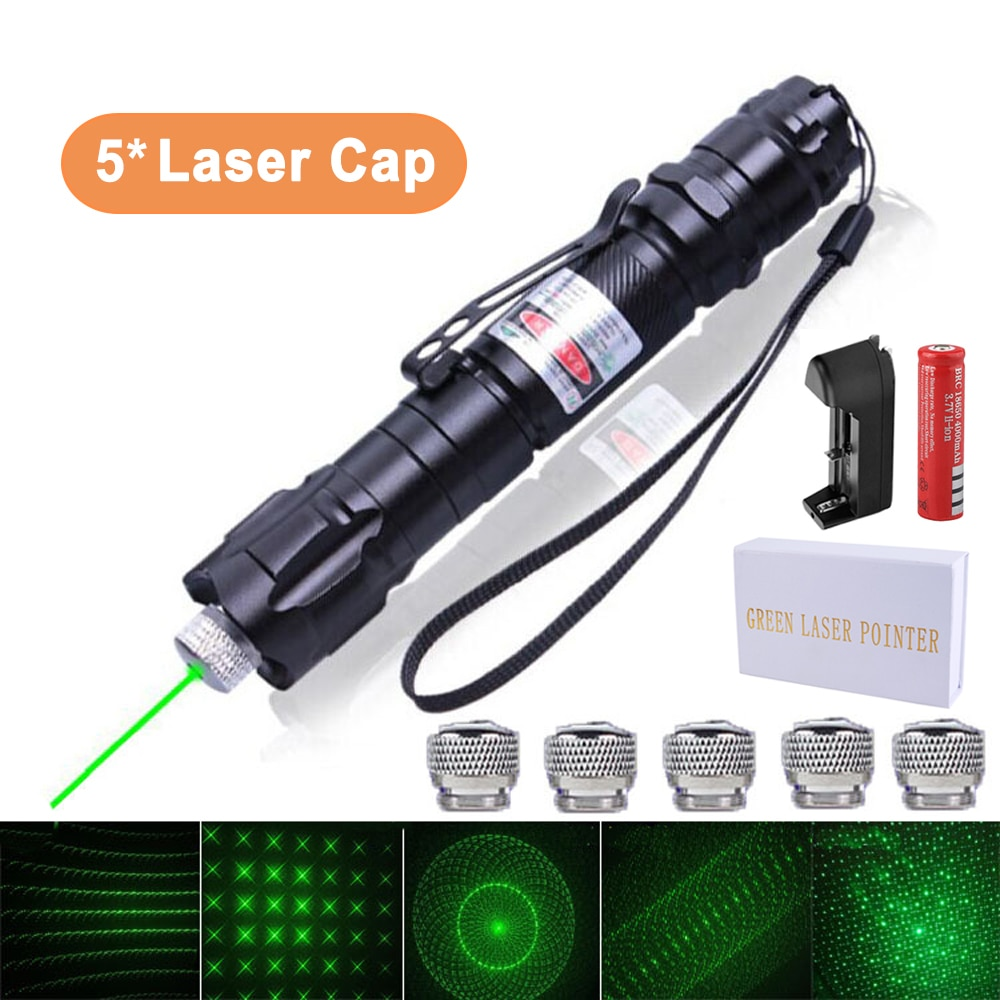Тактическая лазерная указка, мощная лазерная указка с регулируемым фокусом и дальним расстоянием 10000 м, лазерная указка для охоты
