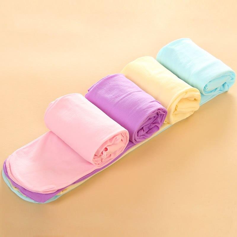 Mallas para niña primavera Color caramelo pantimedias para niños medias de baile Ballet niñas medias de terciopelo para niños pantimedias blancas sólidas
