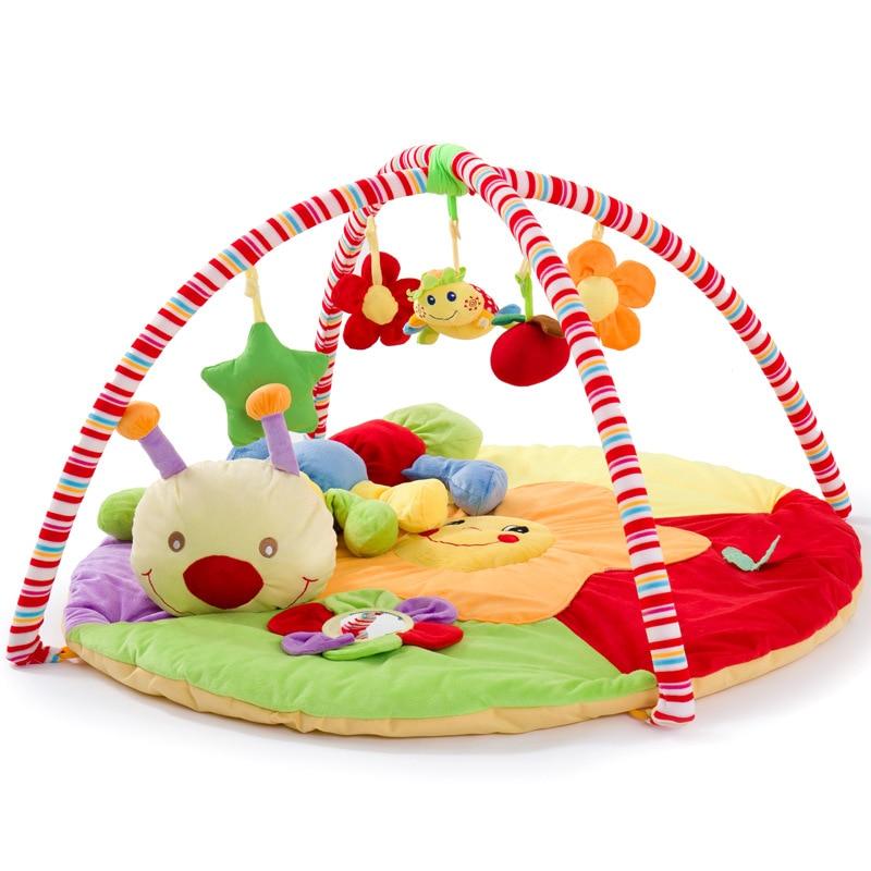 Tapis de jeu doux pour bébé musique   Tapis de jeu pour bébé, jouets éducatifs, tapis de jeu pour enfants, tapis de Fitness pour nouveau-né avec cadre